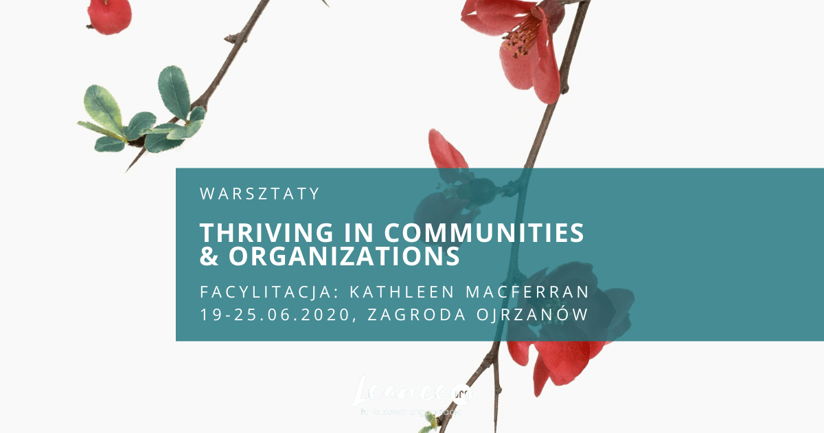 Thriving in Communities & Organizations